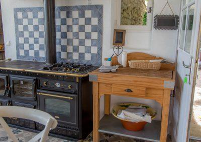 Piano de cuisson de la cuisine du mas d'élise