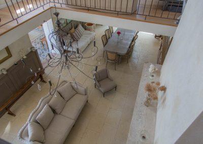 Le salon vue d'en haut